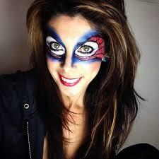 my own bri version spiderman makeup