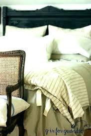 reaction home mineral linen cotton duvet cover in metal bedroom