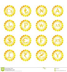 Gold Symbols Money Stock Vector Illustration Of Object 90186917