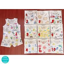 Bộ quần áo cộc tay bé trai bé gái cotton giấy mềm mịn thoáng mát Thời trang  sơ sinh cao cấp xuất khẩu Hàn Quốc giá rẻ chính hãng 11,400đ