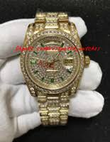 mens diamond watches uk uk delivery on mens diamond watches luxury men s not specified luxury wristwatch 18k mens yellow gold president 36mm diamond watch mechanical men