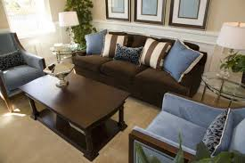 Light Blue And Brown Decor Brown And Blue Living Room Decor With Dark Brown Sofa