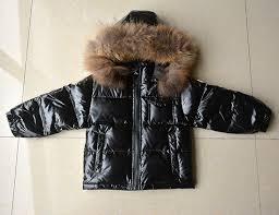 russian winter warm baby boys girls snowsuit children duck down coats jacket with fur hood thick