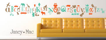 alphabet wall decal a to z letters with graphics owl lion train fire truck car airplane boy vinyl wall art room decor sticker cl101 on adhesive wall art letters with alphabet wall decal a to z letters with graphics owl lion train