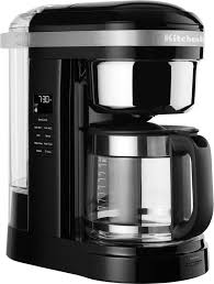 Coffee 12 cup programmable coffee maker, led tou. Kitchenaid 12 Cup Coffee Maker Onyx Black Kcm1209ob Best Buy
