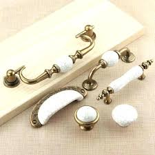 Antique Bronze Cabinet Pulls Dresser Drawer Pull Handles Knobs White  Porcelain Kitchen And Oil Rubbed Hardware Bron White Drawer Pulls R7