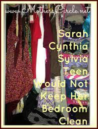Messy Teenage Bedrooms Sarah Cynthia Sylvia Teen Mothers Circle