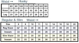 Youth Pants Size Chart Boys Levi Size Chart Husky Regular Slim Husky Jeans