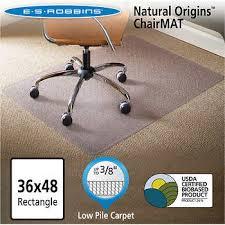chair mat for carpet. es robbins natural origins chair mat for carpet 36\