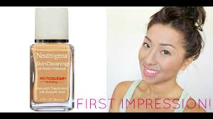 neutrogena skin clearing oil free makeup foundation first impression review initialplv