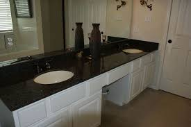 white bathroom cabinets with granite. Chic White Bathroom Vanity With Uba Tuba Granite Countertop And Double Sinks Plus Faucet For Cabinets H