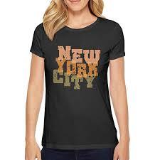 Crazy Shirts Size Chart Short Sleeve Young Women New York City Print Letter Art Top
