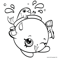 Shopkins Coloring Pages Cookie Kooky Cookie Coloring Page Best Kids