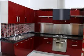 Red Lacquer Kitchen Cabinets Kitchen Classy Simple Red Kitchen Cabinets Kitchen Cabinets