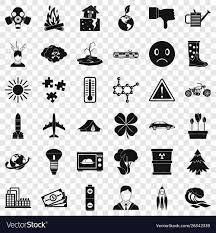 Radiation Design Radiation Icons Set Simple Style