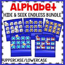 Alphabet Hide Seek Pocket Chart Cards Endless Bundle