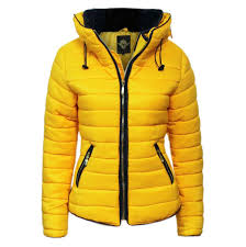 Womens Quilted Padded Hooded Gold Zip Bubble Fur Collar Warm Thick ... & Womens-Quilted-Padded-Hooded-Gold-Zip-Bubble-Fur- Adamdwight.com