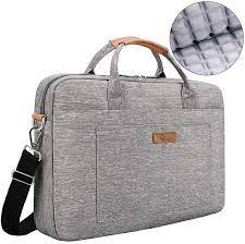 E-Tree 14 15 15.6 Inch Laptop Shockproof Shoulder Bag Sleeve Briefcase  Carrying Case for Laptops / Macbook / Surface Book / Chromebook with Denim  Fabric and Carry Strap,Grey : Amazon.co.uk: Computers & Accessories
