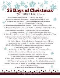 Blank Christmas List Celebrating The 25 Days Of Christmas Activities List