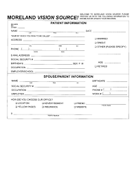 patient information form patient forms for moreland vision source in portland or