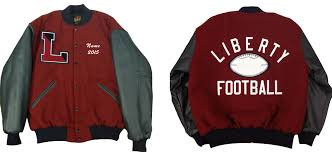 jackets are personalized for you and can include your sport or sports on the back chenille sport patch number name