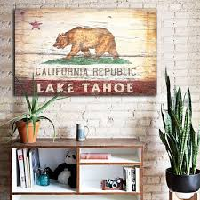 california flag cabin decor