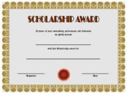 Scholarship Certificate Template For Word 10 Scholarship Award Certificate Editable Templates