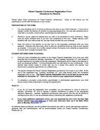 Parent Teacher Conference Forms Templates - Fillable & Printable ...