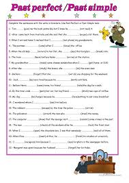 Past Perfect Tense Worksheet Free Worksheets Library | Download ...