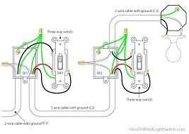 single light switch how to wire a three way light switch 3 way Wiring 2 Switches to 1 Light single light switch how to wire a three way light switch 3 way switch circuit diagram with the power feed via the switch single light single light switch
