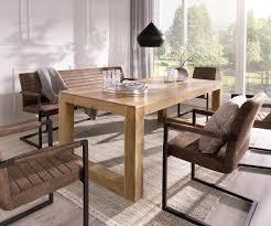 Esstisch Indra Akazie Natur 200x100 Kufengestell Massiv Möbel Tische