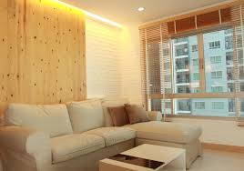 hidden lighting. Download Living Room With Light Wood Panel And Hidden Lighting Stock Photo - Image Of Apartment