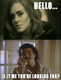 Lionel always answers Adele. Always. | Ultimate Meme Collection ... via Relatably.com