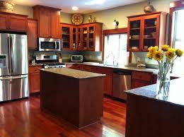 ... Fancy Kitchen Decoration Ideas Using Brazilian Cherry Wood Kitchen  Cabinet : Stunning U Shape Kitchen Decoration ...