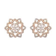 Diamond Round Earrings Designs Floral Design Round Marquise Pear Diamond Earrings Diamond