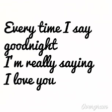 Goodnight I Love You Quotes