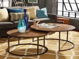 furniture round nesting coffee table best of hammary soho round nesting cocktail table khaki travertine