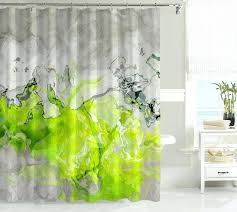 green shower curtain liner bright colored striped show m l f