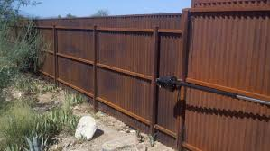 sheet metal privacy fence. Old Corrugated Metal Fence Sheet Privacy T