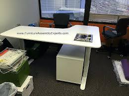 assembled office desks. Pre Assembled Office Furniture Beautiful Ready Fice Desks Home Hollow Core Shaped Puter Desk