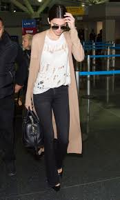 Designer Shirt With Holes Kendall Jenners Ripped Shredded T Shirt Is From Glamour