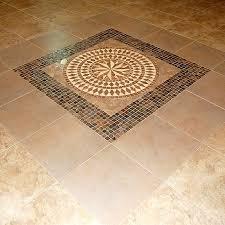Inlaid ceramic tile floor