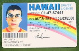 Limited License - 12 99 Edition Movie Drivers Bam Id Prop Box Mclovin Picclick Hawaii