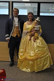 adam and belle beauty and the beast with lumiere costume
