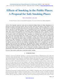 effects of smoking in the public places