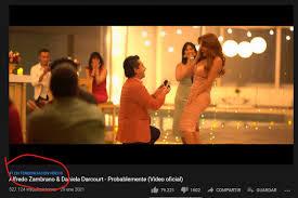 Videoclip de Alfredo Zambrano y de Daniela Darcourt es tendencia número uno  en YouTube - AP Noticias Perú