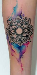 Mandala Tattoo Watercolor Hledat Googlem Tetovani Imponerende