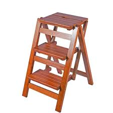 wooden folding stepladder wood folding for s and kids kitchen ladders small foot stools portable shoe
