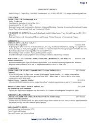 College Resume Template Download Unique Resume Samples For Banking