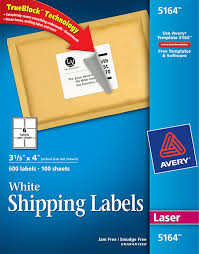 Avery 5164 Labels Avery White Shipping Labels With Trueblock Technology 5164